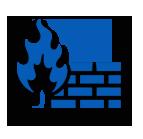 firewall icon blue